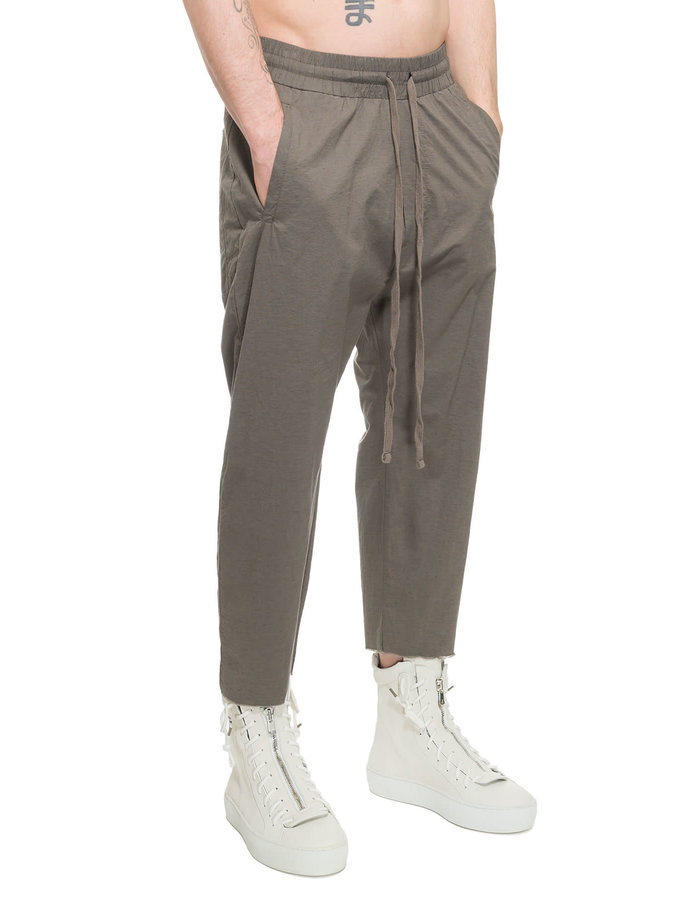 THOM KROM STRETCH COTTON AND LINEN TROUSER - SAND