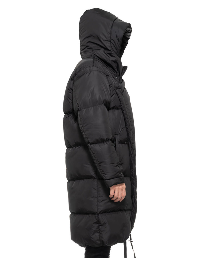 LA HAINE INSIDE US HOODED WRAP PUFFER COAT
