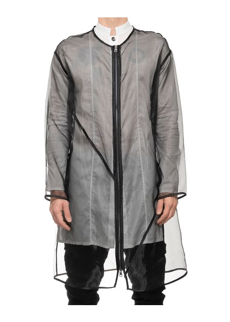 LA HAINE INSIDE US TRANSPARENT ZIP FRONT TRENCH
