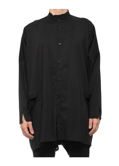 LA HAINE INSIDE US OVERSIZE DRAPE BUTTON UP W/ POCKETS