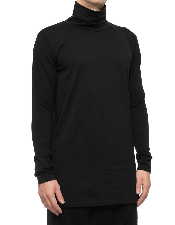 LA HAINE INSIDE US STRETCH COTTON TURTLENECK TOP