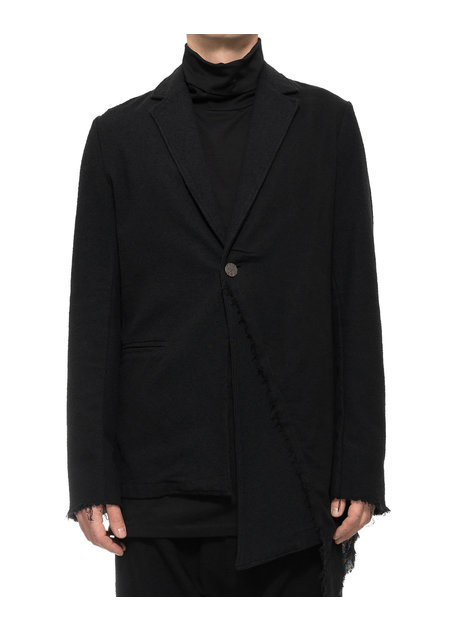 LA HAINE INSIDE US ASYMMETRIC BROADCLOTH BLAZER