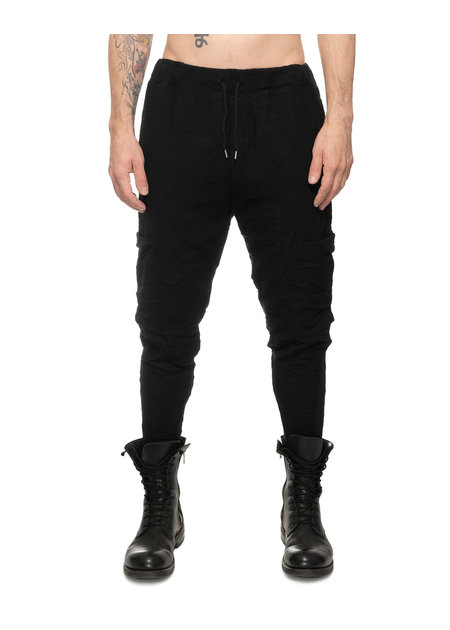 LA HAINE INSIDE US COTTON AND WOOL SIDE POCKET JOGGER