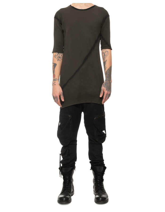 ARMY OF ME RIBBED T-SHIRT 42 - MOSS