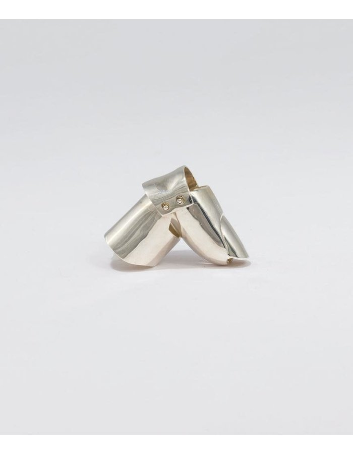 FANGOPHILIA FINGERTIP JOINT RING : SHORT NAIL - SILVER