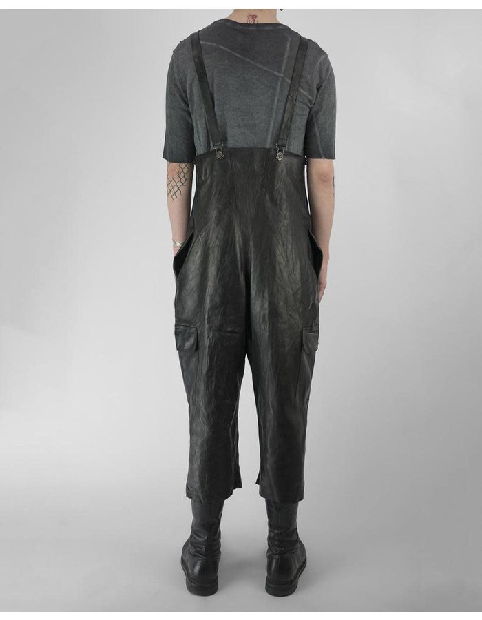 SANDRINE PHILIPPE LEATHER CARGO WAITERS WITH LACING