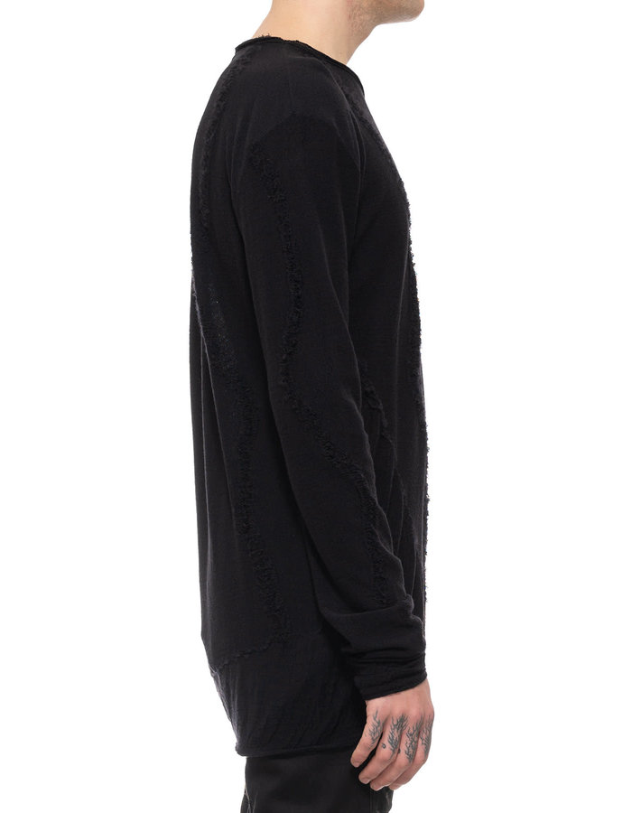 NOSTRA SANTISSIMA RE-EMBROIDERED WOOL LONG SLEEVE