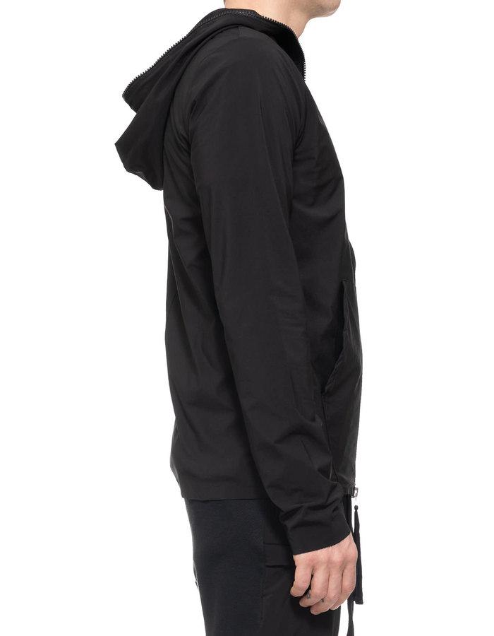 THOM KROM Hyper-Stretch Nylon Full Zip Hoodie - BLACK