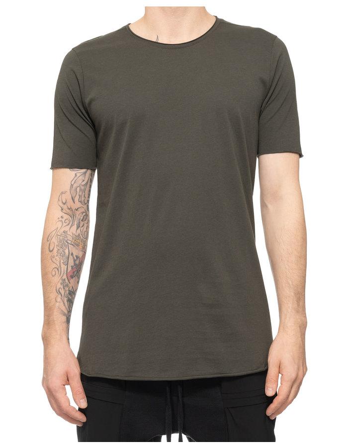 THOM KROM Stitched Back Cotton T-Shirt - GREEN