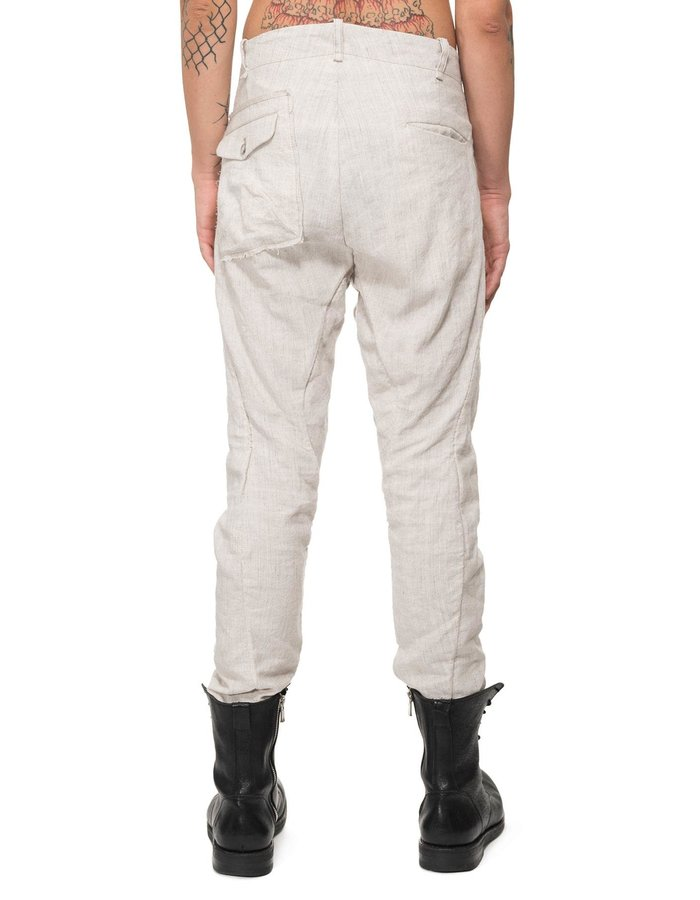 MASNADA RIPPED POCKET CURVE KNEE PANT