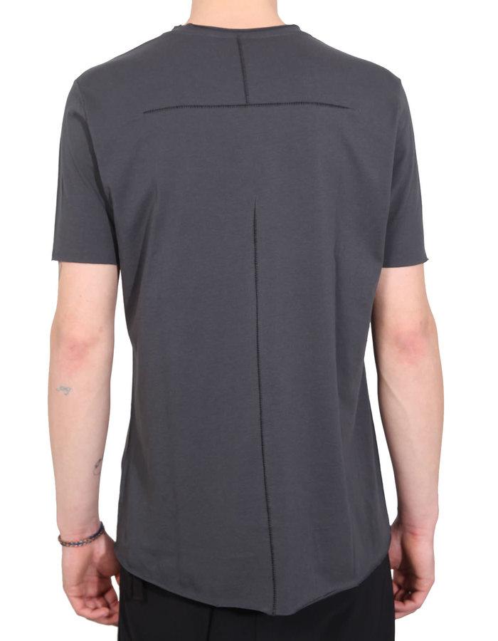 THOM KROM Stitched Back Cotton T-Shirt - STEEL