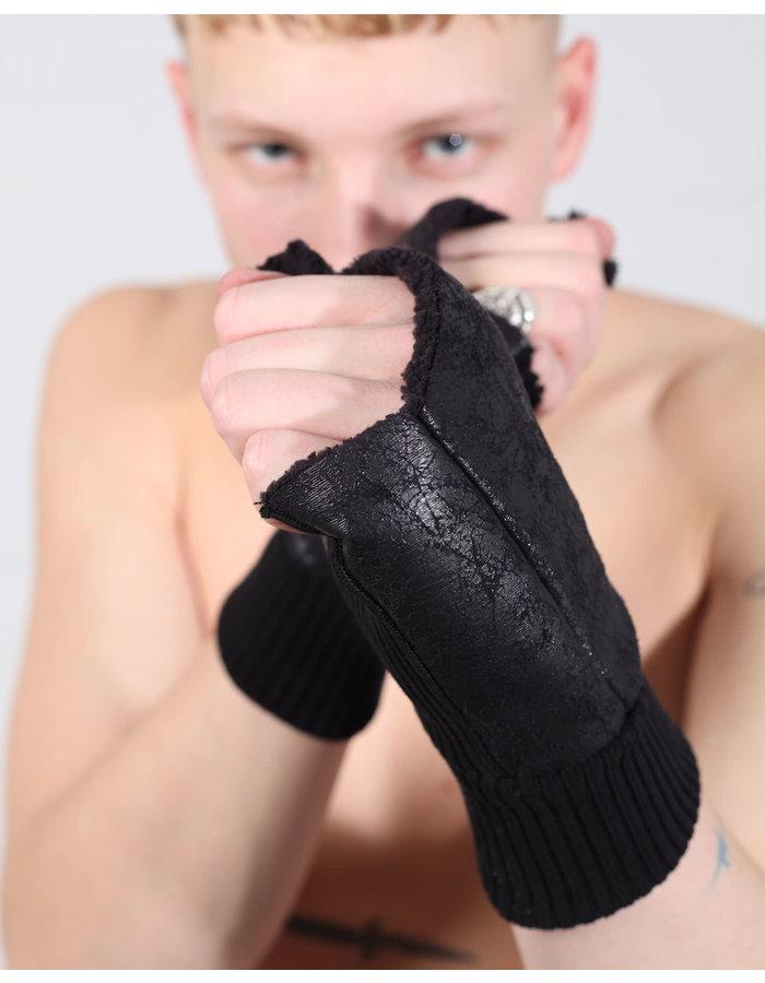 THOM KROM Vegan Shearling Fingerless Gloves