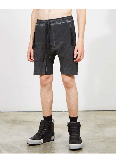 THOM KROM PANELED SHORTS W/ BACK CARGO - OIL