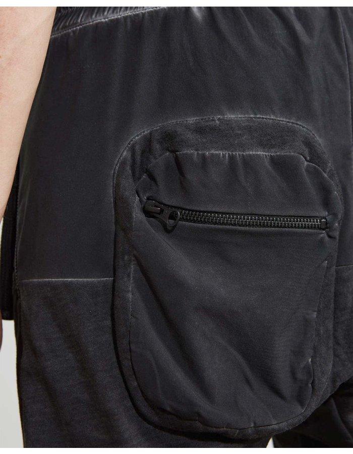THOM KROM Paneled Shorts  W/ Back Cargo - OIL