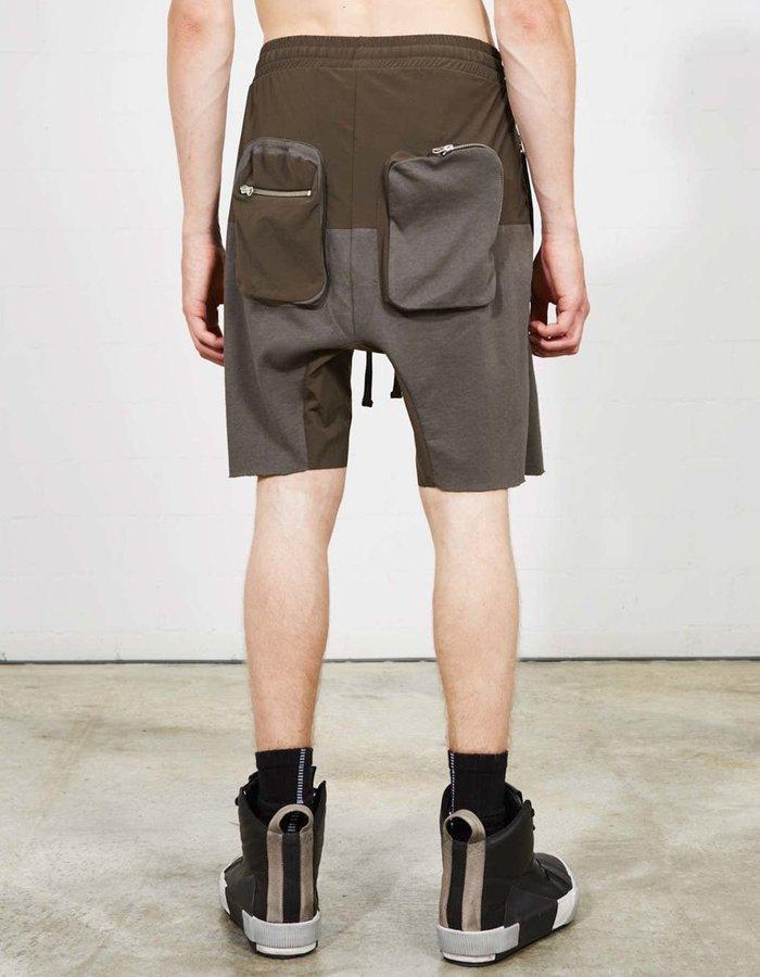 THOM KROM Paneled Shorts  W/ Back Cargo - MUD