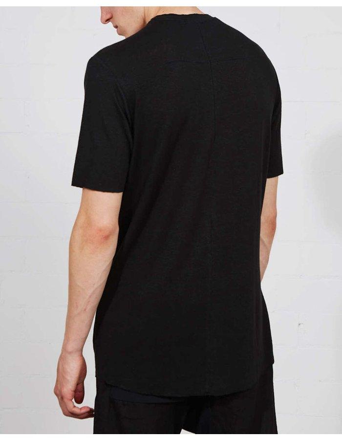 THOM KROM Stretch Linen Tee SS21 - Black