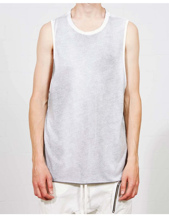 THOM KROM Rib Shoulder  Sleeveless T Shirt - Sprayed