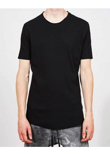 THOM KROM RIBBED FRONT FITTED TEE