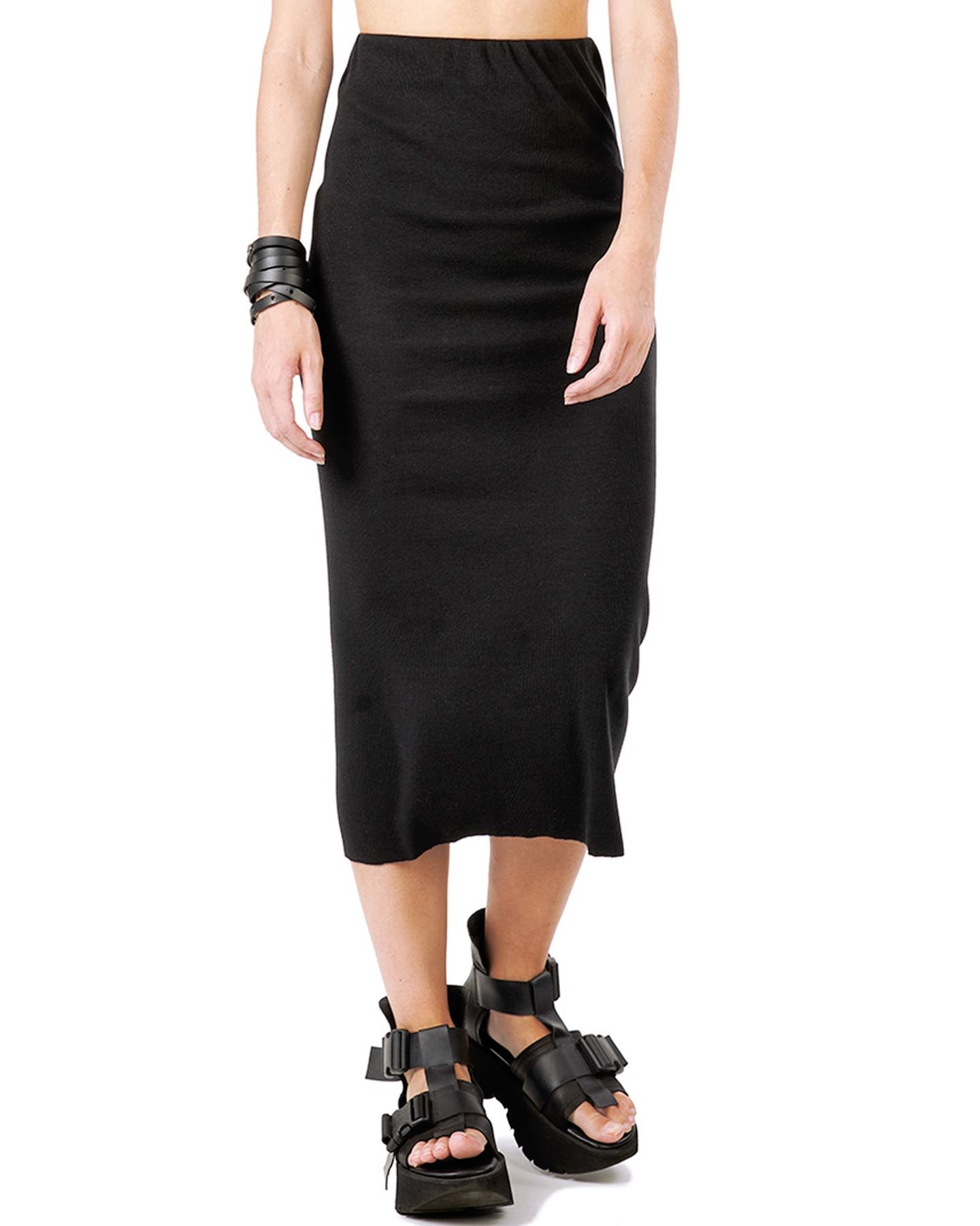 RIBBED JERSEY TUBE SKIRT