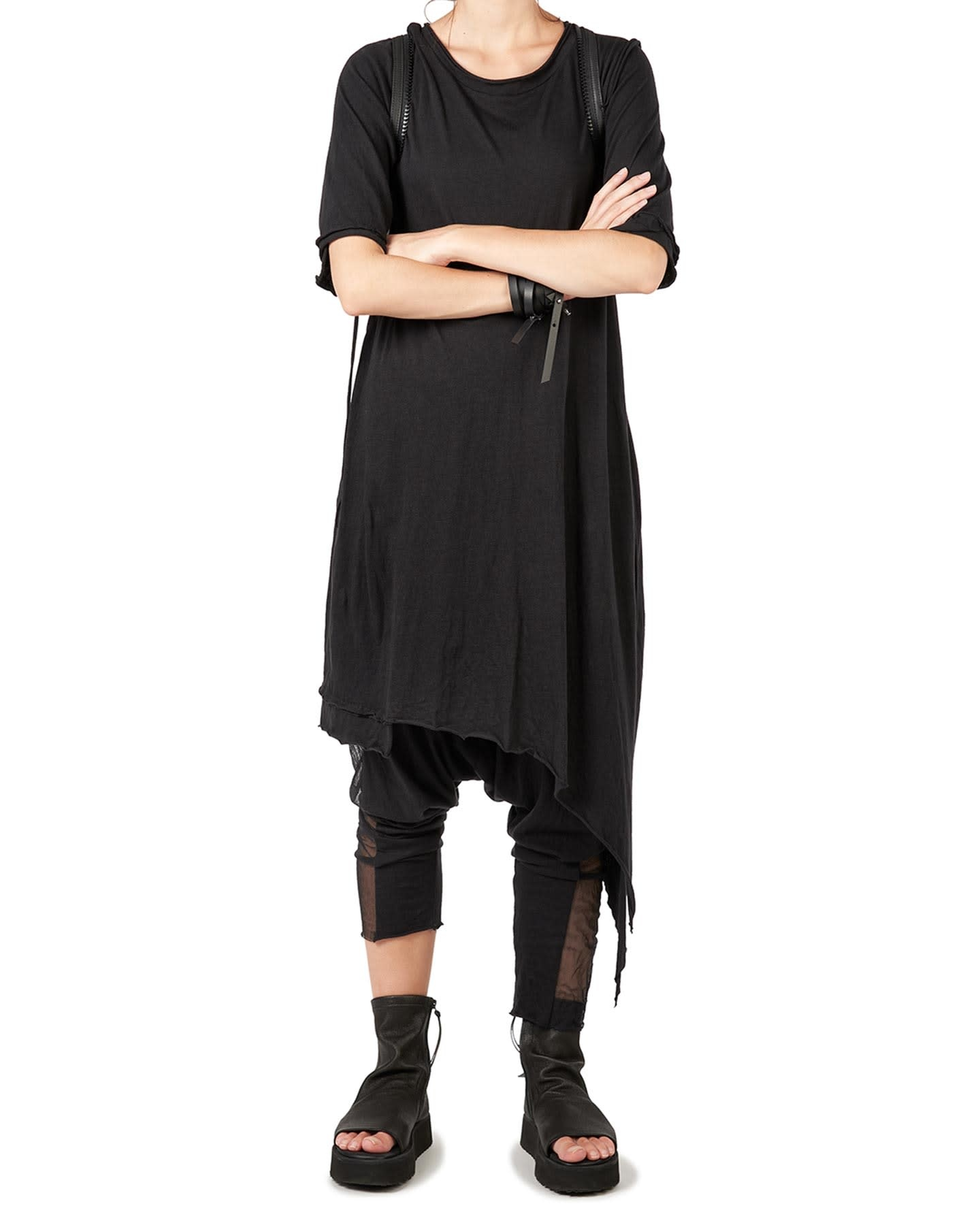 LONG ASYMMETRIC JERSEY TUNIC