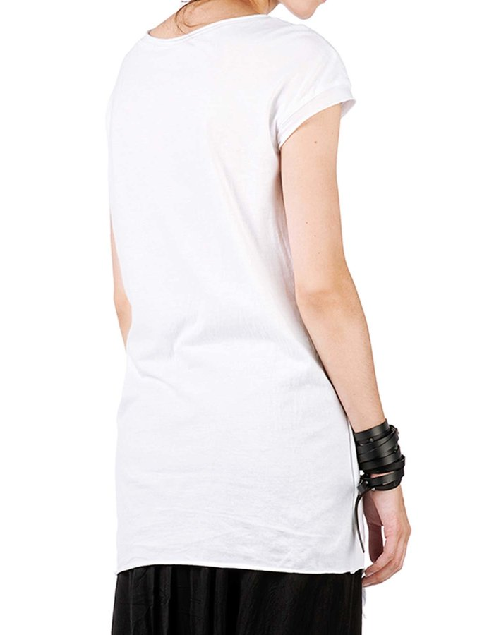 STUDIO B3 COTTON & MESH LAYERED SHIRT - WHITE
