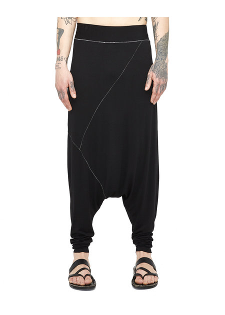 LA HAINE INSIDE US LIGHT VISCOSE DROP CROTCH PANTS