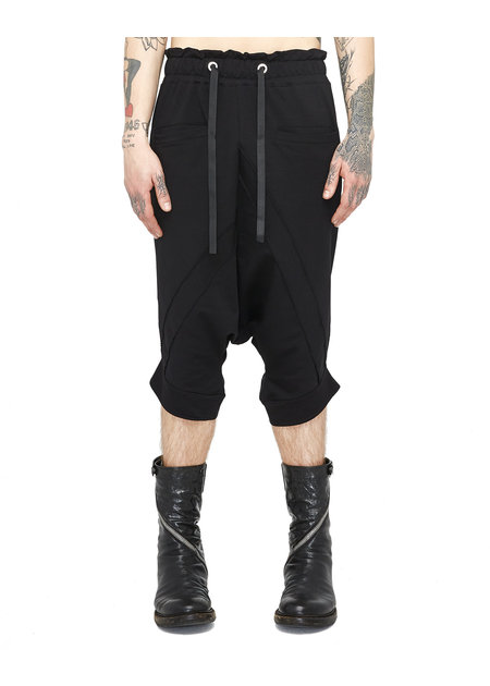 LA HAINE INSIDE US STRETCH COTTON DROP CROTCH BERMUDA SHORTS