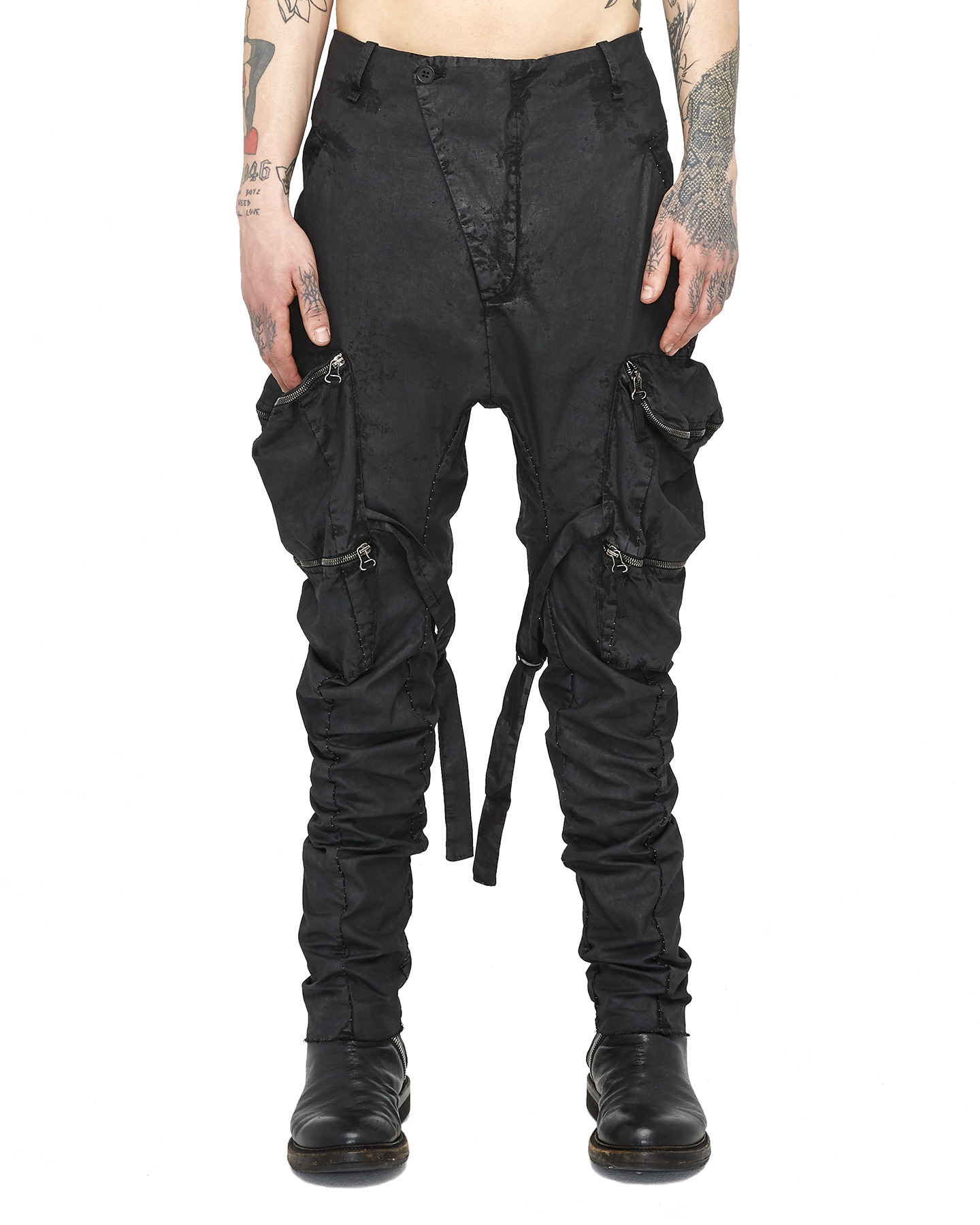 WEDGE POCKET BONDAGE PANTS - RESIN
