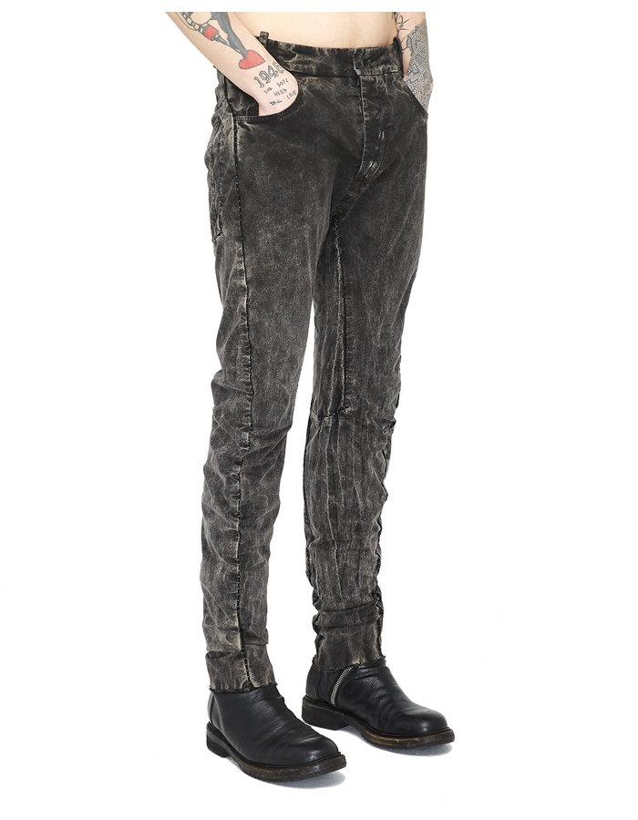 MASNADA CURVED KNEE INLAY POCKET PANTS - IMPLOSION