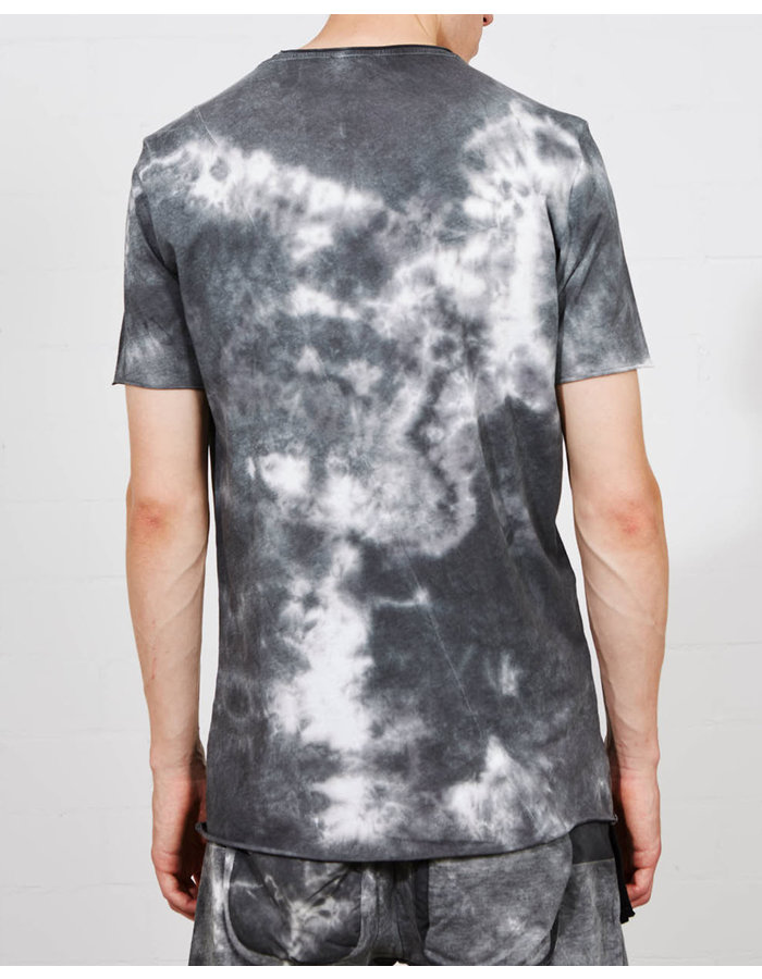 THOM KROM CURVED SEAM FITTED T-SHIRT - MARBLE