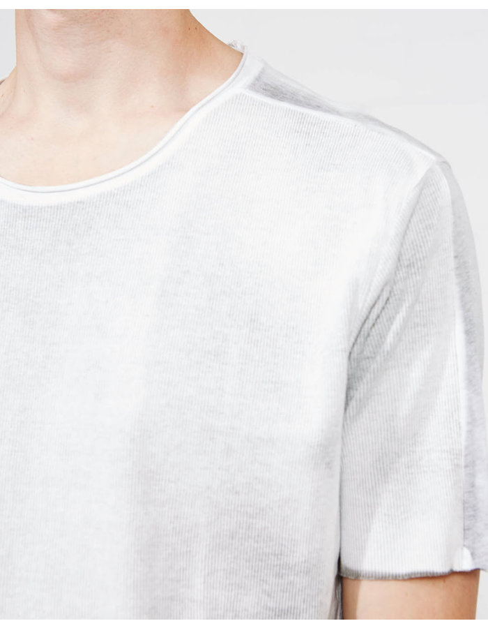 THOM KROM RIBBED FRONT FITTED TEE- SPRAYED