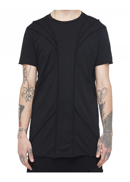 LA HAINE INSIDE US SEAM DETAIL POCKET T-SHIRT - BLACK