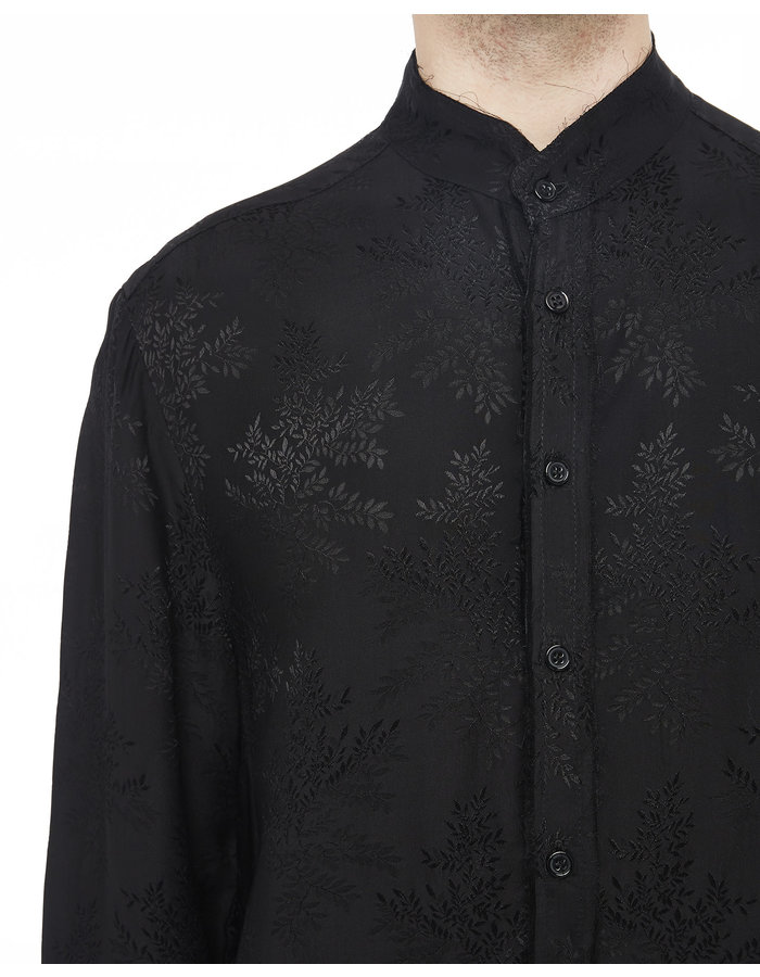 SANDRINE PHILIPPE Raw Finish Jacquard Silk Shirt