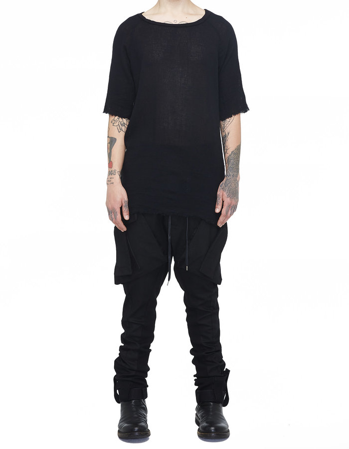 ARMY OF ME KNITTED T-SHIRT 33 - BLACK