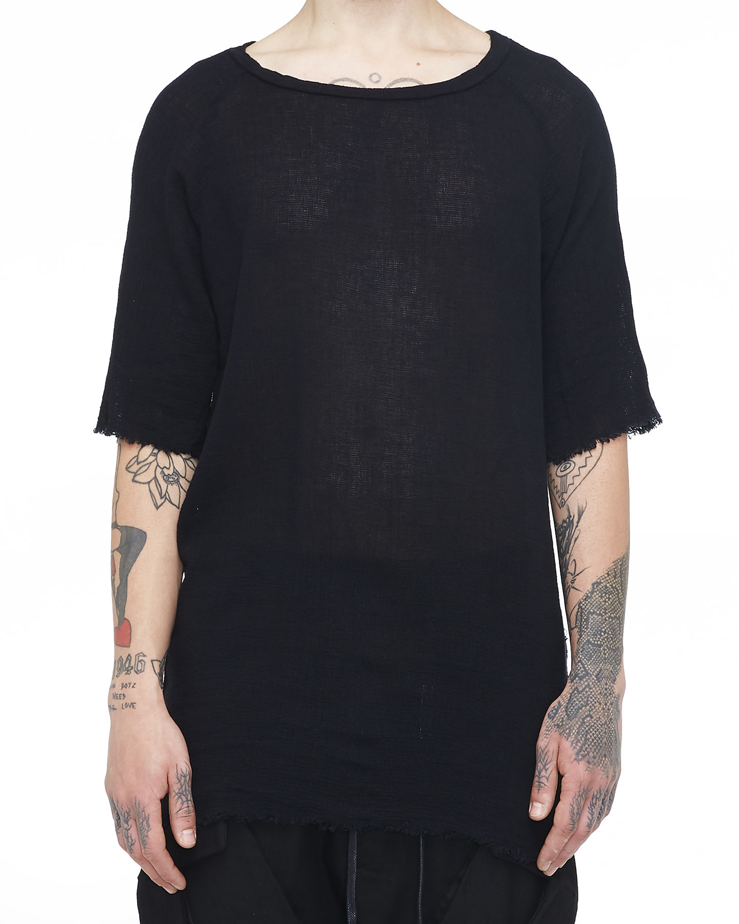 KNITTED T-SHIRT 33 - BLACK