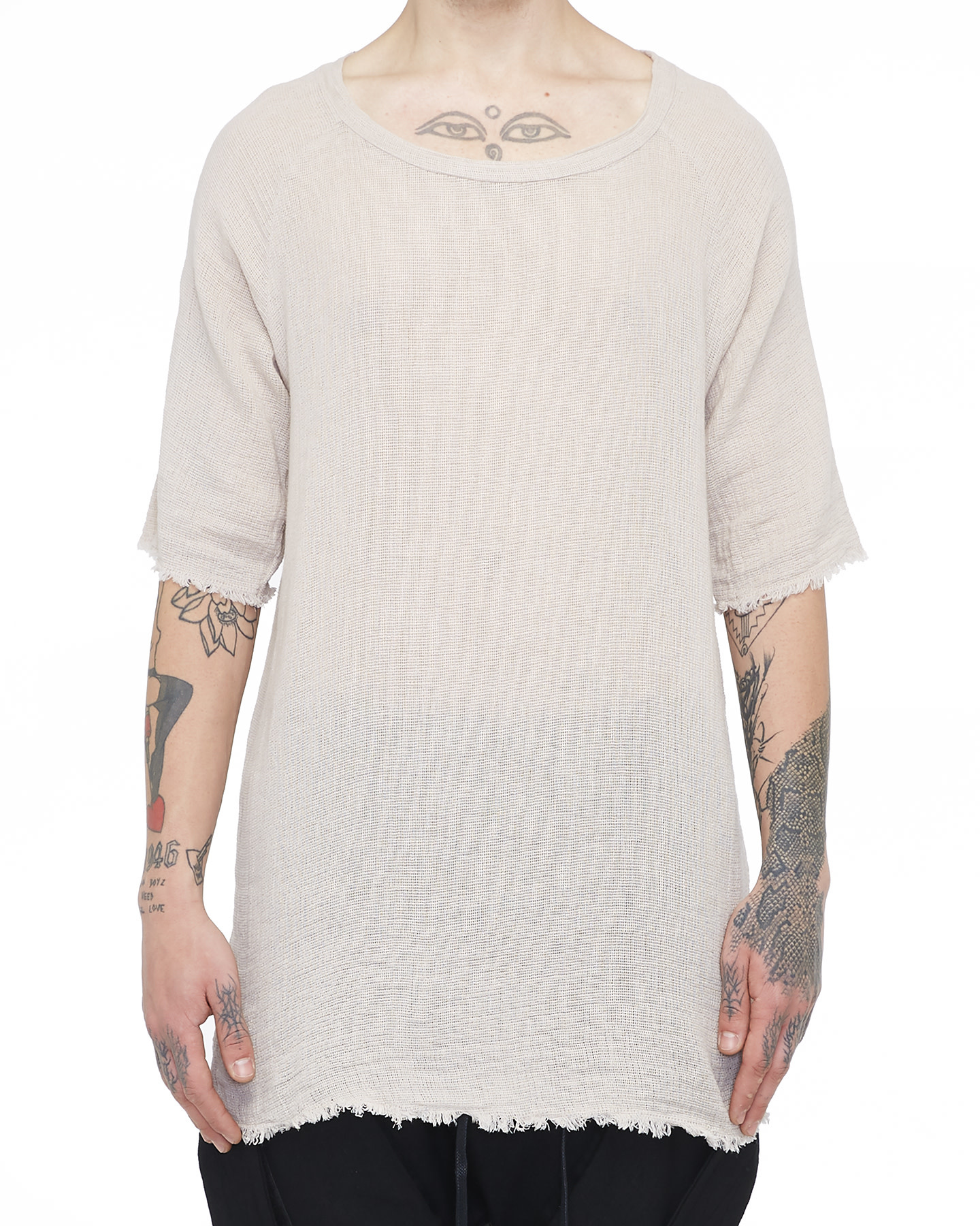 KNITTED T-SHIRT 33 - SAND