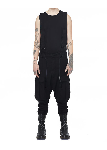 ARMY OF ME T-POCKET SUSPENDER CARGO LINEN TROUSERS 71