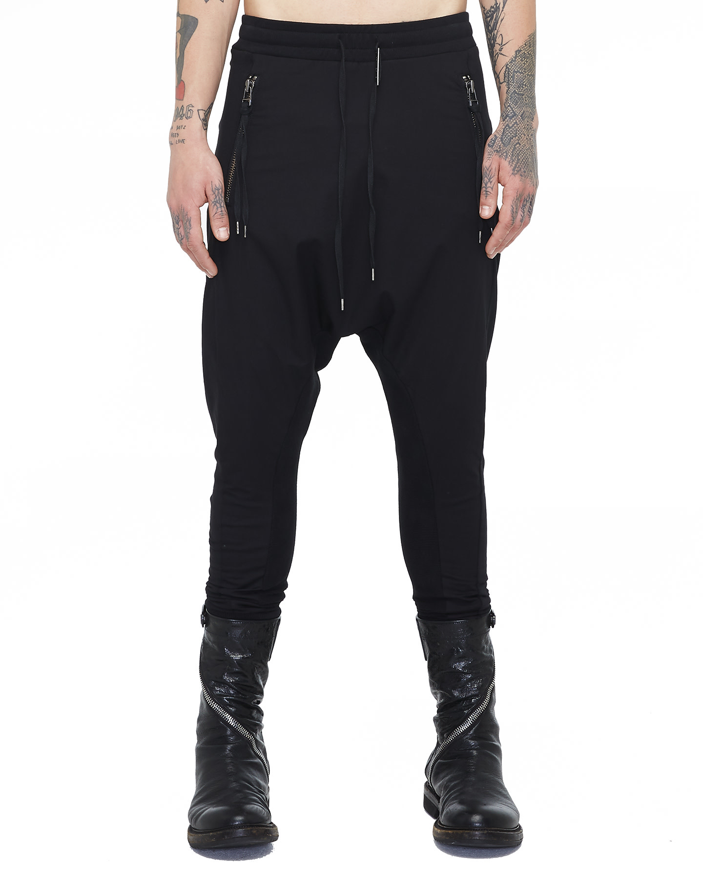 CONTRASTING WOVEN/JERSEY TROUSERS 73