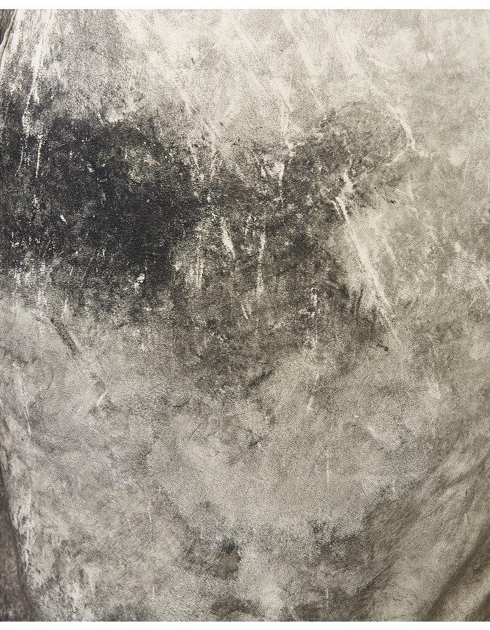SANDRINE PHILIPPE Leather Painted Tank Top