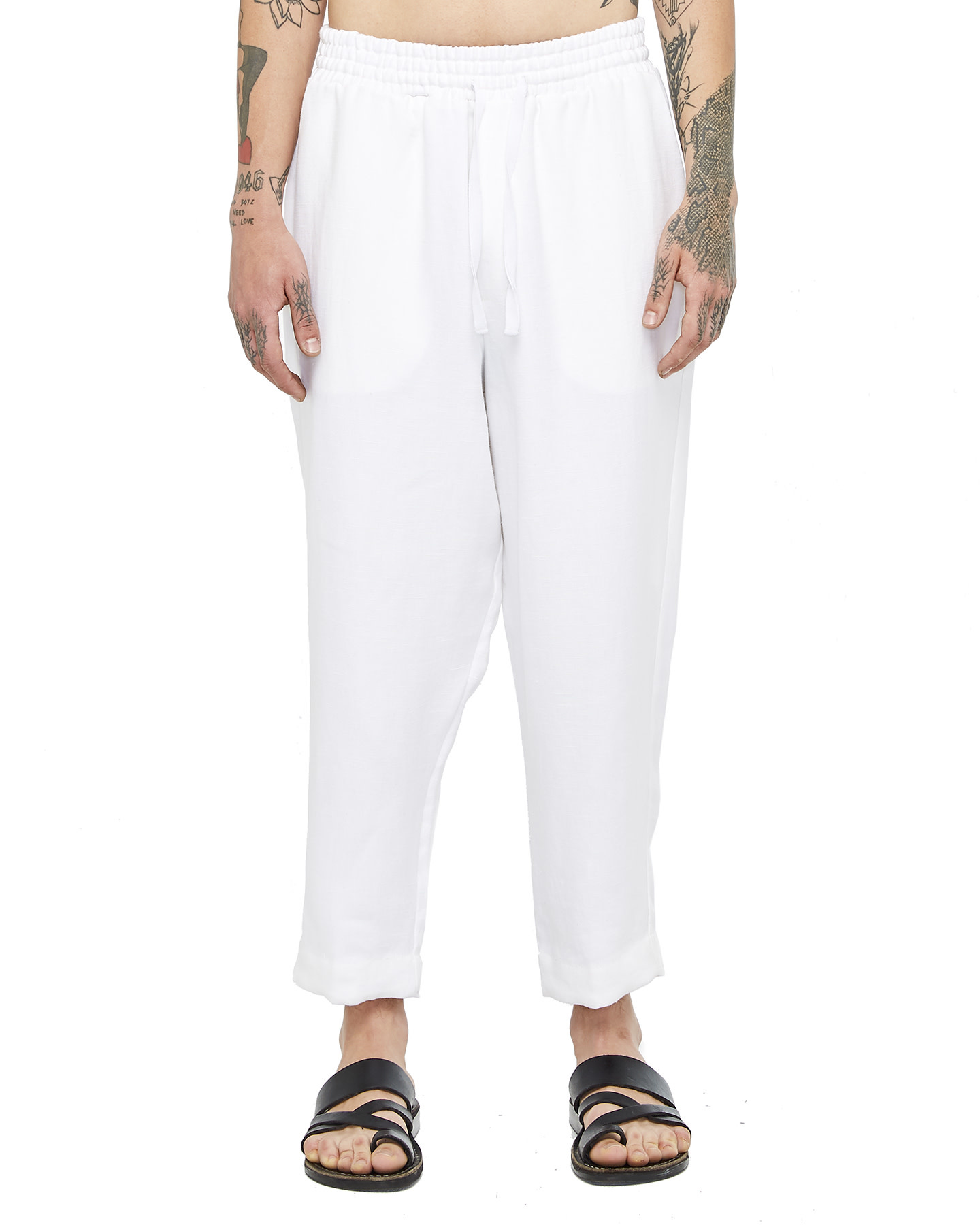 RELAXED LINEN PANT - WHITE