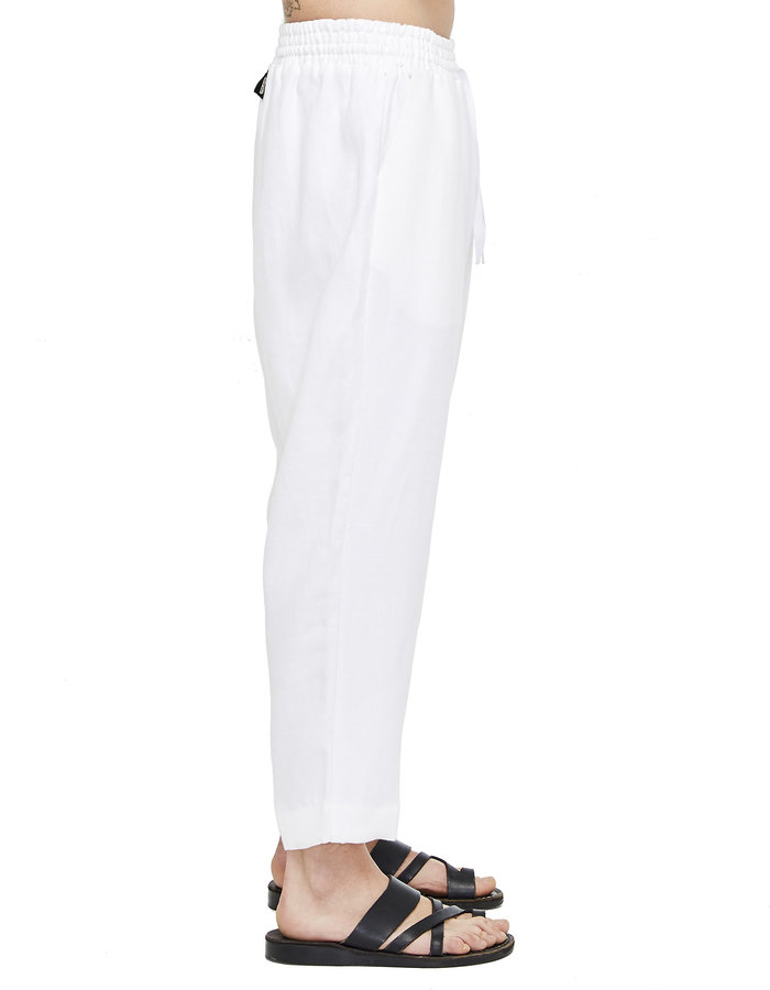 DAVIDS ROAD RELAXED LINEN PANT - WHITE