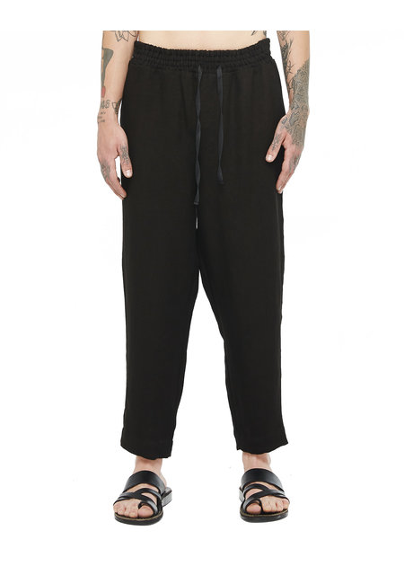 DAVIDS ROAD RELAXED LINEN PANT - BLACK