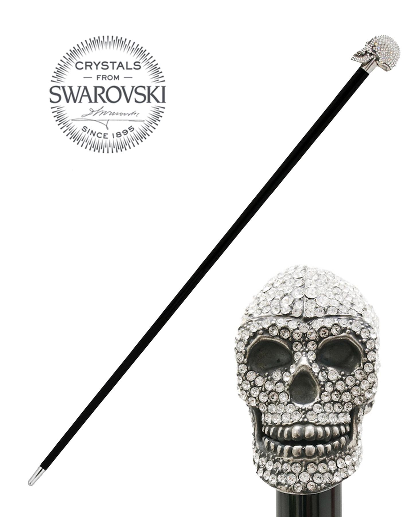 SWAROVSKI SKULL WALKING STICK