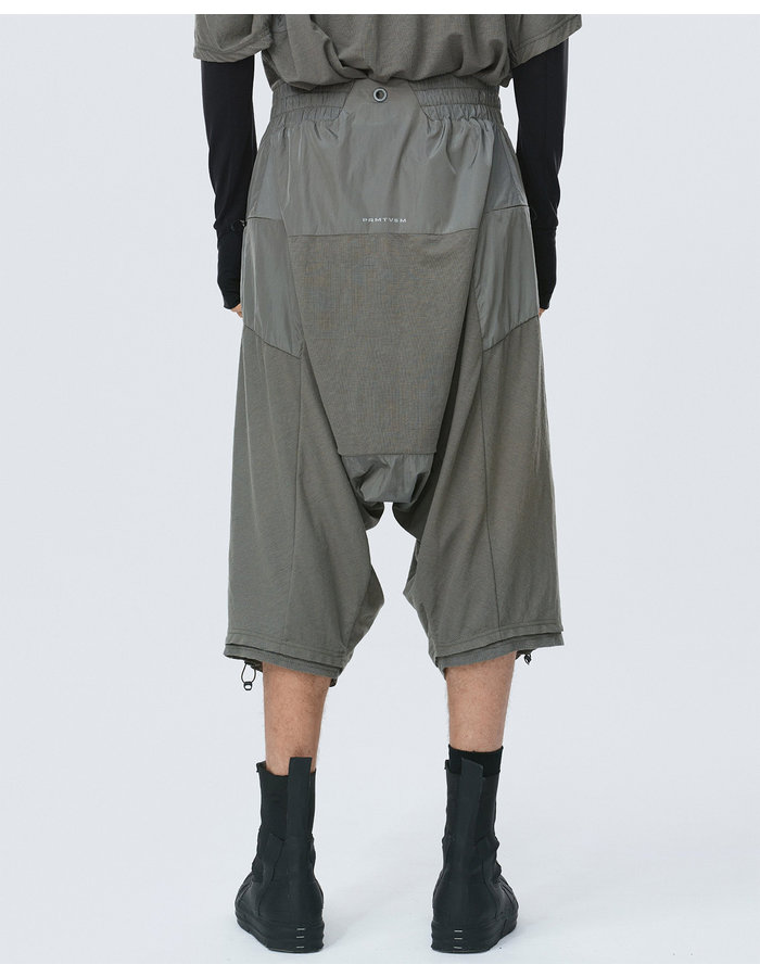 HAMCUS GEO KNITTED LOUNGE SHORTS - SILVER