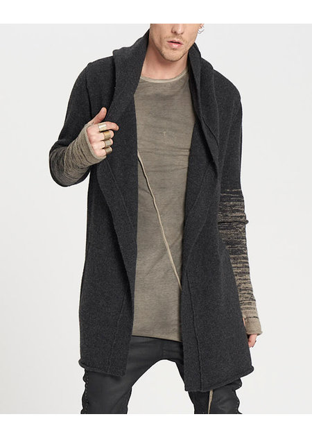 MASNADA KNITTED VENT PARKA - ANTHRACITE