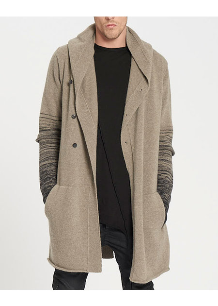 MASNADA KNITTED VENT PARKA - GRAVEL