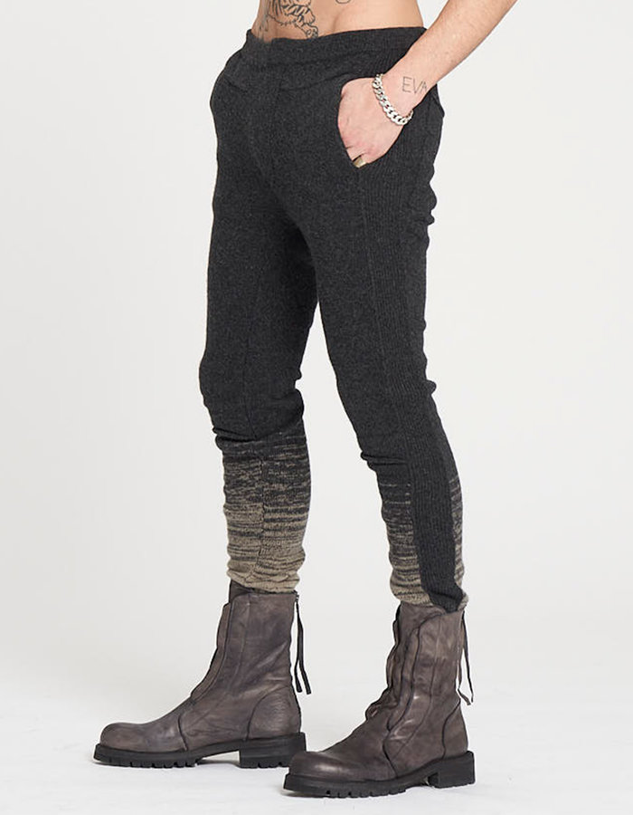 MASNADA KNITTED BAND PANTS - ANTHRACITE