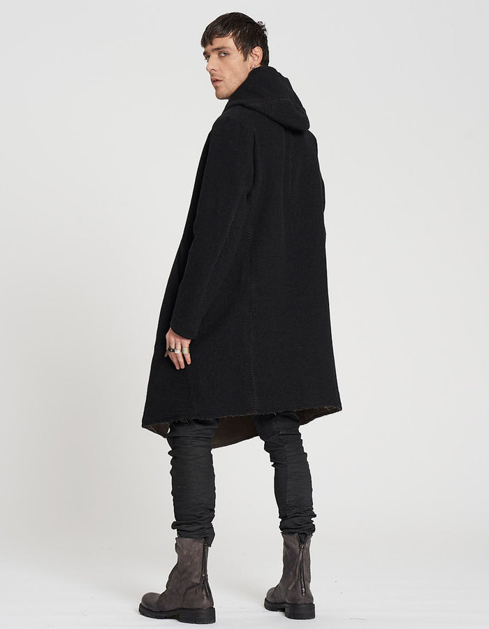 MASNADA DOUBLE SPACER WOOL PARKA - ANTHRACITE