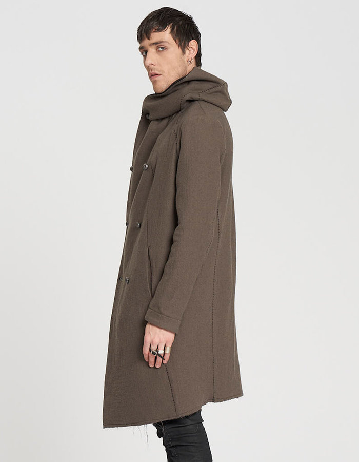 MASNADA DOUBLE SPACER WOOL PARKA - GRAVEL