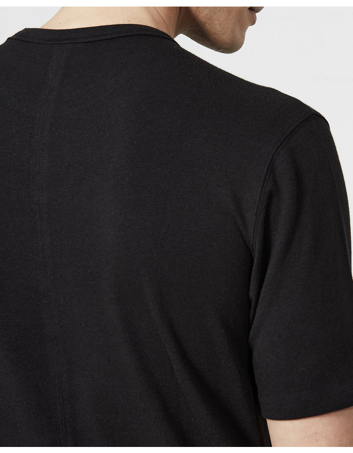 THOM KROM STRETCH COTTON MODAL FITTED CREW - BLACK